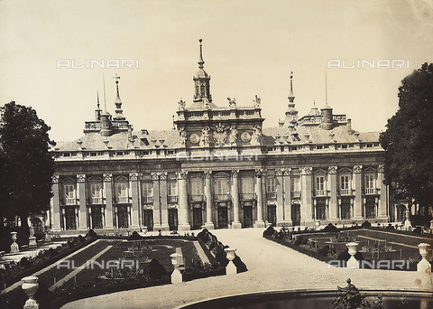 GCQ-F-003960-0000 - The Palacio Real of San Ildefonso or la Granja, Spain. The structure was built by Teodoro Ardemans, while the faà§ade was designed by Filippo Juvarra and built by Giona Battista Sacchitti - Date of photography: 1920-1930 ca. - Fratelli Alinari Museum Collections, Florence