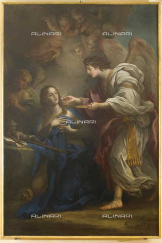 GNU-F-000913-0000 - Last communion of Mary Magdalene, 1738, oil on canvas, 249 x 165 cm, Sebastiano Conca (1680-1764), Galleria Nazionale dell'Umbria, Perugia. The work was restored in 1987 - (C) Galleria Nazionale dell'Umbria - Fratelli Alinari