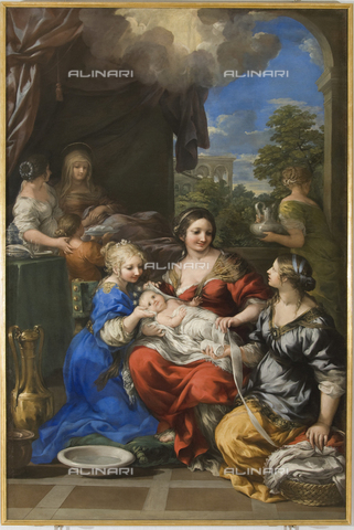 GNU-F-000935-0000 - Birth of Mary, 1643, oil on canvas, 247 x 164 cm, Pietro da Cortona (1596-1669), Galleria Nazionale dell'Umbria, Perugia. The work was restored in 1997 - (C) Galleria Nazionale dell'Umbria - Fratelli Alinari