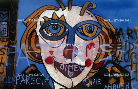 GRA-F-000049-0000 - Clown, Graffiti & Wall Art on the Berlin Wall that fell down beginning from the night of 9th November 1989 - Data dello scatto: 1987 - Francesco and Alessandro Alacevich / Gremese Archive/Alinari Archives