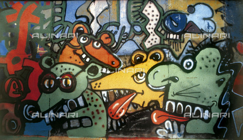 GRA-F-000064-0000 - Mice, Graffiti & Wall Art on the Berlin Wall that fell down beginning from the night of 9th November 1989 - Data dello scatto: 1987 - Francesco and Alessandro Alacevich / Gremese Archive/Alinari Archives