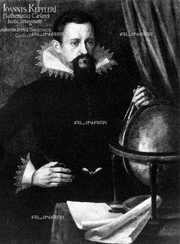 GRC-F-006895-0000 - Ritratto dell' astronomo e matematico Giovanni Keplero (Johannes von Kepler) (1571-1630), olio su tela - Granger, NYC /Archivi Alinari