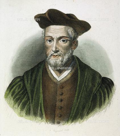 GRC-F-007040-0000 - Ritratto dello scrittore e umanista François Rabelais (1494-1553), incisione, scuola francese - Sarin Images / Granger, NYC /Archivi Alinari