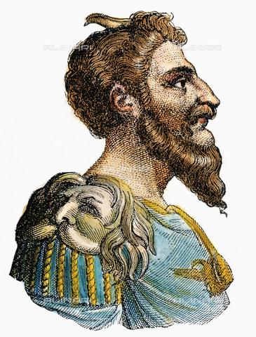 GRC-F-010890-0000 - Attila, re degli Unni, incisione a colori - Sarin Images / Granger, NYC /Archivi Alinari