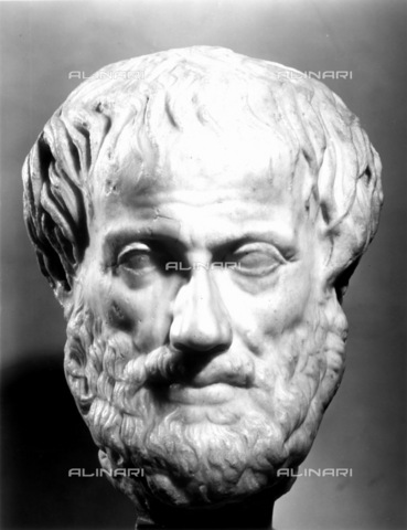 GRC-F-012700-0000 - Aristotele (384-322 a.C.), filosofo greco, testa in marmo, arte romana da un originale greco - Granger, NYC /Archivi Alinari