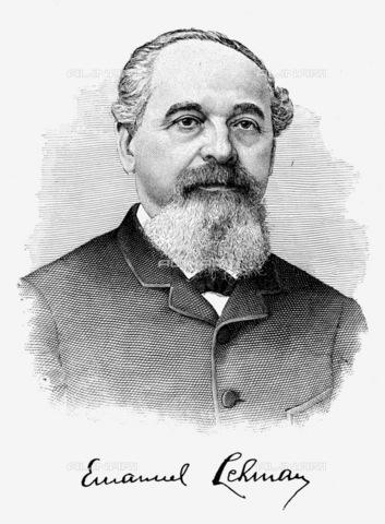 GRC-F-017536-0000 - Emanuel Lehman (1827-1909), banchiere e filantropo americano, incisione, fine del XIX secolo - Granger, NYC /Archivi Alinari
