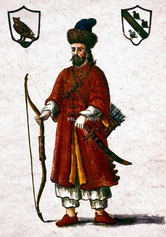 GRC-F-023126-0000 - Ritratto di Marco Polo in abiti tatari, acquarello, Jan van Grevenbroeck (1731-1807) - Granger, NYC /Archivi Alinari