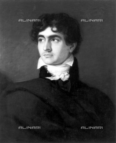GRC-F-030459-0000 - Ritratto dello scrittore e medico John William Polidori (1795-1821), olio su tela, F. G. Gainsford (attivo 1805–1828), National Portrait Gallery, Londra - Granger, NYC /Archivi Alinari