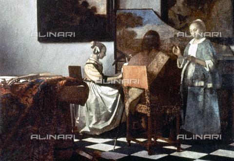 GRC-F-034019-0000 - Il concerto, olio su tela, Jan Vermeer (1632-1675), Isabella Stewart Gardner Museum, Boston. Il dipinto è stato rubato nel 1990 e non è stato più ritrovato - Granger, NYC /Archivi Alinari