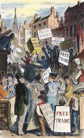 GRC-F-037628-0000 - Una dimostrazione della Anti-Corn Law League a Londra, Inghilterra, 1843 ca., incisione, arte inglese - Granger, NYC /Archivi Alinari
