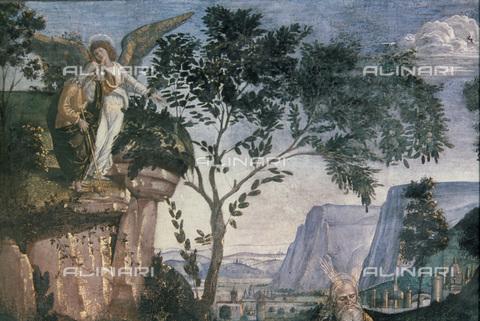 GRC-F-043591-0000 - L'angelo mostra a Mosè la terra di Canaan dal Monte Nebo, particolare, affresco, Luca Signorelli (1445-1523), Cappella Sistina, Musei Vaticani, Città del Vaticano - Granger, NYC /Archivi Alinari