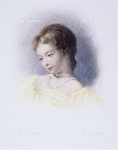 GRC-F-045498-0000 - Ritratto di Augusta Ada Byron, nota come Ada Lovelace (1815-1852), figlia del poeta Lord Byron, incisione del XIX secolo - Granger, NYC /Archivi Alinari