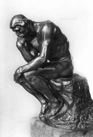 GRC-F-048540-0000 - Il pensatore, bronzo, Auguste Rodin (1840-1917) - Granger, NYC /Archivi Alinari