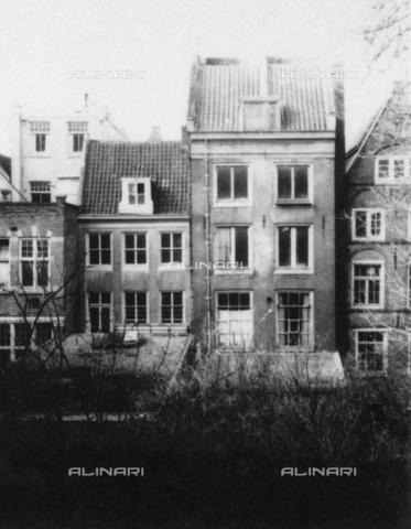 GRC-F-053345-0000 - Il retro della casa di Anna Frank al n. 263 di Prinsengracht ad Amsterdam dove Anna e la sua famiglia si nascosero dai tedeschi durante la Seconda Guerra Mondiale - Granger, NYC /Archivi Alinari