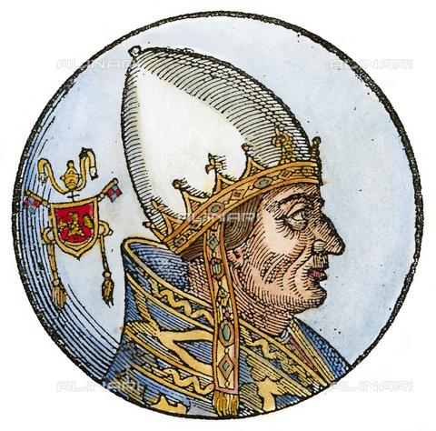 GRC-F-059241-0000 - Papa Innocenzo III, 1592, xilografia, Scuola Veneziana della fine del XVI secolo - Granger, NYC /Archivi Alinari