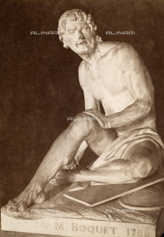 GRC-F-082649-0000 - Archimede, matematico e inventore greco, marmo, Simon Louis Boquet (1743-1833), Museo del Louvre, Parigi - Granger, NYC /Archivi Alinari