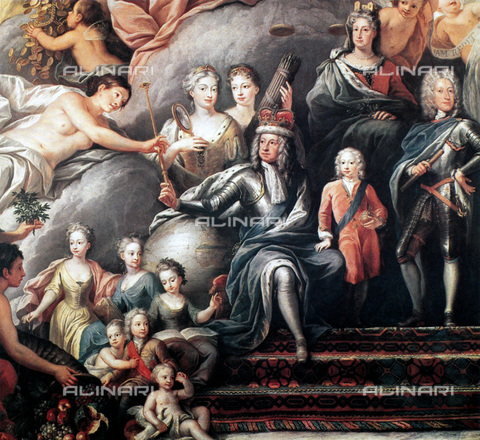 GRC-F-085119-0000 - Family of George I Kings of Great Britain and Ireland, detail, painting, Sir James Thornhill (c. 1675-1676- 1734) - Granger, NYC/Alinari Archives