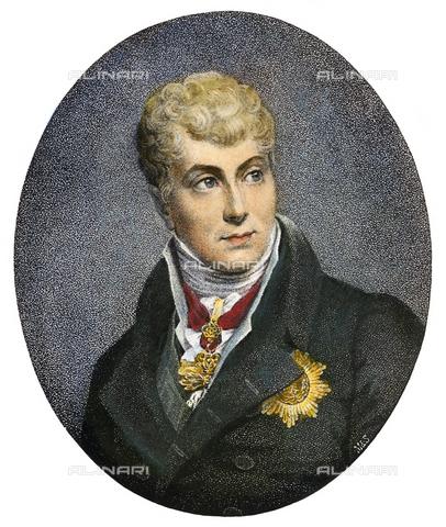 GRC-F-091107-0000 - Ritratto di Klemens Wenzel, principe von Metternich (1773-1859), incisione da un dipinto di François Gerard - Sarin Images / Granger, NYC /Archivi Alinari