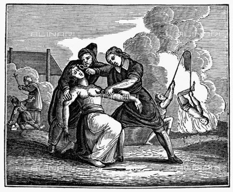 GRC-F-093264-0000 - Torture medievali per punire gli eretici, xilografia - Granger, NYC /Archivi Alinari