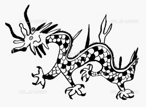 GRC-F-097864-0000 - Chinese dragon, engraving - Granger, NYC/Alinari Archives