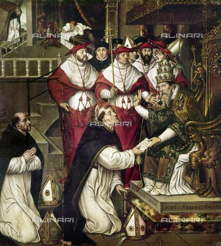 GRC-F-105177-0000 - Papa Onorio III conferma la regola a San Domenico, olio su tavola, Cristobal Lloréns (1550-1616), Museu de Belles Arts de València, Valencia - Granger, NYC /Archivi Alinari