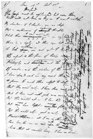 """GRC-F-106658-0000 - Pagina manoscritta del poema """"Manfred"""" di George Gordon Byron, 1816-17 - Granger, NYC /Archivi Alinari"""