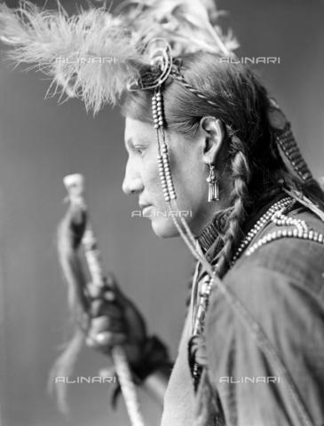 GRC-F-116547-0000 - Ritratto di Amos Little, un nativo americano Sioux - Data dello scatto: 1900 ca. - Granger, NYC /Archivi Alinari