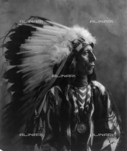 GRC-F-117281-0000 - Ritratto di Jack Nuvola Rossa, capo dei Sioux Oglala, e figlio del Capo Nuvola Rossa - Data dello scatto: 1904 ca. - Granger, NYC /Archivi Alinari