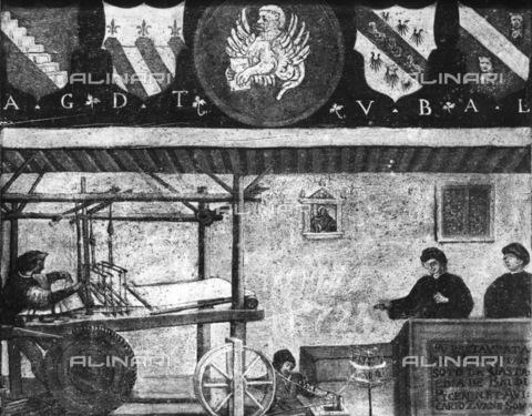 GRC-F-123423-0000 - Insegna dell'arte dei tessitori di seta a Venezia, olio su tavola, Musei Civici Veneziani - Museo Correr, Venezia - Granger, NYC /Archivi Alinari