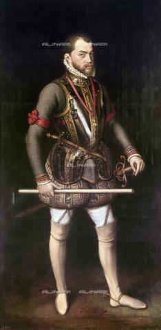 GRC-F-128797-0000 - Ritratto di Filippo II (1527-98) di Spagna, olio su tavola, Anthonis Mor van Dashorst (Antonio Moro) (1517/20-76/77), Museo del Prado, Madrid - Granger, NYC /Archivi Alinari