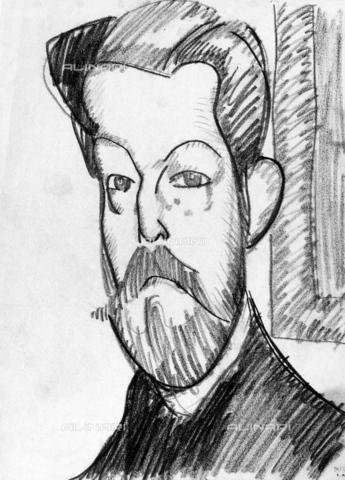 GRC-F-164131-0000 - Ritratto del collezionista Paul Alexander, disegno, Amedeo Modigliani (1884-1920) - Granger, NYC /Archivi Alinari