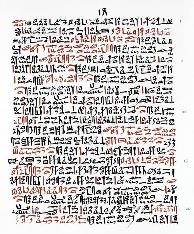 GRC-F-173285-0000 - Papiro Ebers, manoscritto sulla medicina egizia scritto durante il regno di Amenhotep I - Granger, NYC /Archivi Alinari, Sarin Images