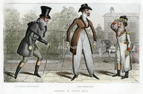 GRC-F-620147-0000 - Dandy di altri tempi: Sir Lumley Skeffington e Lord Petersham, incisione, 1889 - Granger, NYC /Archivi Alinari