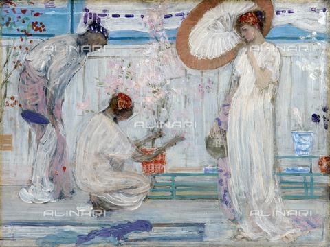GRC-F-643730-0000 - The White Symphony: Three Girls, olio su tavola, James McNeill Whistler (1834-1903) - Granger, NYC /Archivi Alinari