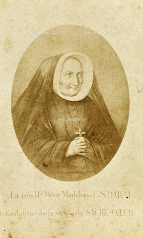 GRQ-F-001886-0000 - Portrait of Sister Madeleine Sophie Barat, founder of the Société du Sacré-Cœur de Jésus - Data dello scatto: 1860-1865 - Archivi Alinari, Firenze