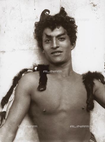 GWA-F-00064A-0000 - Portrait of a boy as a faun (Carmelo) - Data dello scatto: 1900 ca. - Archivi Alinari, Firenze