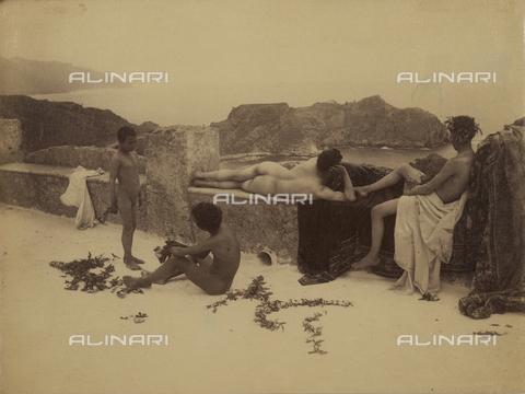 GWA-F-000906-0000 - Panorama. Terrace with nudes - Data dello scatto: 1900 ca. - Archivi Alinari, Firenze
