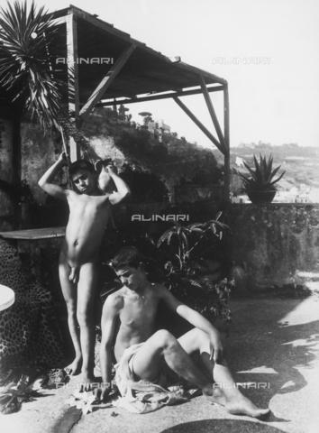 GWN-F-001515-0000 - Arcadian-pastoral scene with nude adolescents - Data dello scatto: 1895 - 1905 - Archivi Alinari, Firenze