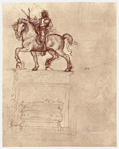 HIP-S-000115-4990 - Anatomical study of a human skull, drawing, Leonardo da Vinci (1452-1519) - Art Media / Heritage Images /Alinari Archives, Florence