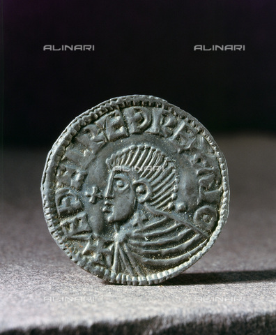 HIP-S-000233-0367 - Scandinavian imitation of the Long Cross penny of Ethelred II, c995-1020. From the British Museum, London - Werner Forman Archive / Heritage Images /Alinari Archives, Florence