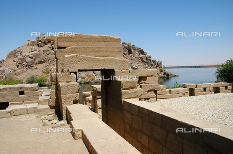HIP-S-000255-8993 - Entrance and embarkation point to the river Nile. Country of Origin: Egypt. Culture: Ancient Egyptian. Date/Period: 30th Dynasty to Roman period, 380 BC - 300 AD. Place of Origin: Philae. - Heritage Images /Alinari Archives, Florence, Werner Forman Archive/ N.J Saunders.