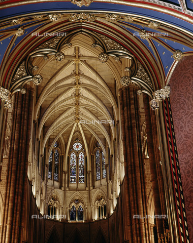 HIP-S-000256-8592 - Westminster Abbey. View from the middle of the nave looking east towards the choir. Country of Origin: England. Culture: Gothic, from 1245 AD. Place of Origin: London. - Werner Forman Archive / Heritage Images/Archivi Alinari, Firenze