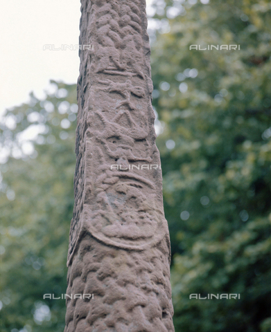 HIP-S-000256-8601 - The Gosforth Cross detail. Country of Origin: England. Culture: Viking, c. 900 AD. Place of Origin: Cumberland. - Werner Forman Archive / Heritage Images/Archivi Alinari, Firenze