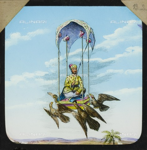 HIP-S-000266-7947 - Amazing flying machine, 1882-1892. From the Cecil Victor Shadbolt collection of lantern slides - Data dello scatto: 1882-1892 - Historic England Archive / Heritage Images /Alinari Archives, Florence