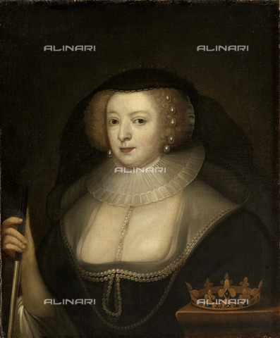 HIP-S-000267-2735 - Frances Howard, Duchess of Lennox and Richmond (1577-1639), c1633-c1650. Painting in Kenwood House, London. From the Suffolk Collection - Historic England Archive / Heritage Images /Alinari Archives, Florence