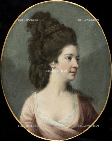 HIP-S-000267-2737 - Miss La Touche, c1750-c1802. Painting at Kenwood House, London - Historic England Archive / Heritage Images /Alinari Archives, Florence