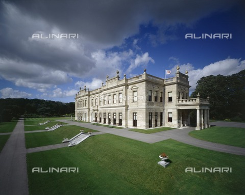 HIP-S-000267-2740 - Brodsworth Hall and Gardens, South Yorkshire, late 20th or early 21st century. Exterior view showing the south and east fronts - Historic England Archive / Heritage Images /Alinari Archives, Florence