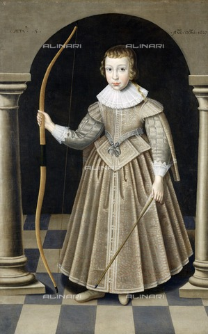 HIP-S-000267-2761 - A boy of the Howard Family, 1627. Painting from the Suffolk Collection, Kenwood House, London - Historic England Archive / Heritage Images /Alinari Archives, Florence
