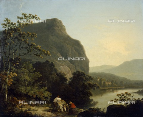 HIP-S-000267-2782 - Classical Landscape with a Lake', 1788. Painting in Kenwood House, London. From the Iveagh Bequest - Historic England Archive / Heritage Images /Alinari Archives, Florence
