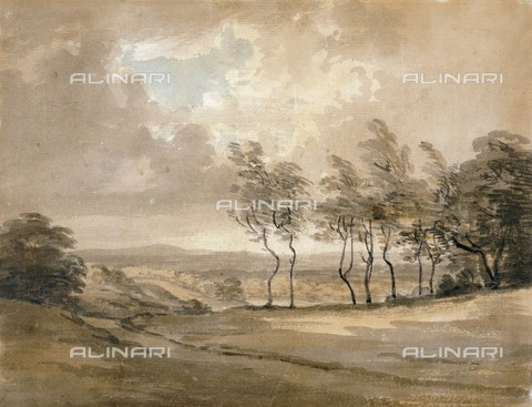 HIP-S-000267-2789 - View of Hampstead Heath', 18th century. Painting in Kenwood House, London - Historic England Archive / Heritage Images /Alinari Archives, Florence